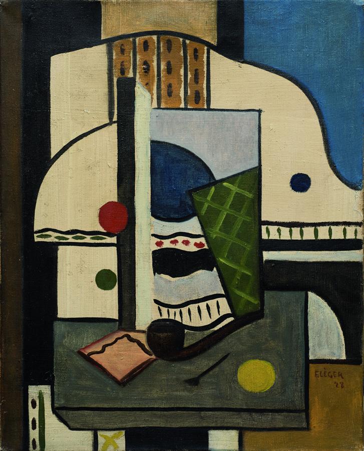 Fernard Leger Composition à la pipe, 1928, Olio su tela, cm 41 x 33,5 Stima € 550.000 – 650.000