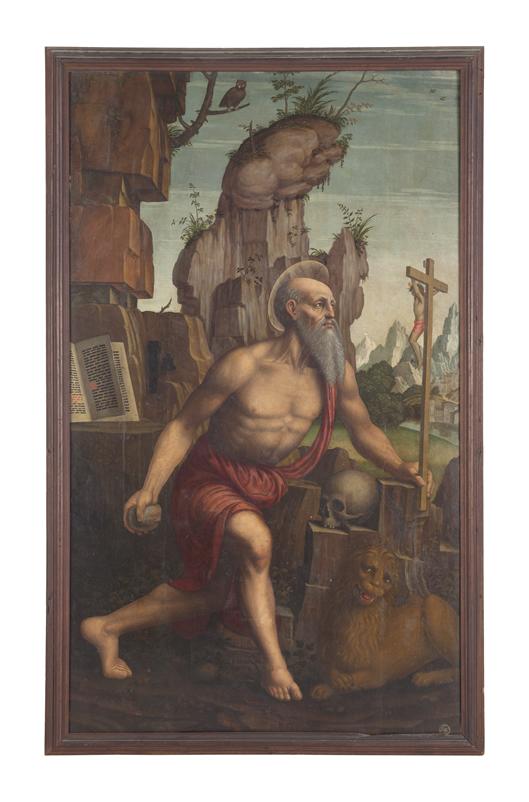 Dipinti antichi: dalla progettazione all'esecuzione del San Gerolamo