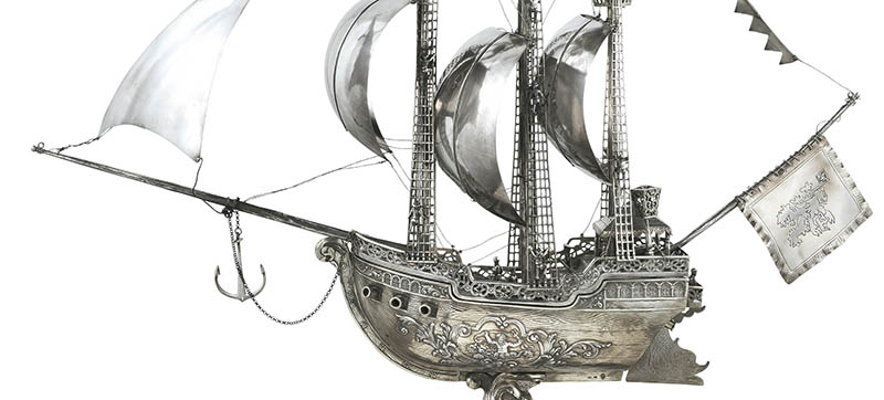 A Nef. A silver vessel from the land of dreams