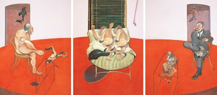 """Francis Bacon, """"Two Figures Lying on a Bed with Attendant"""", 1968 Oil on canvas, 198x147,5 cm"""