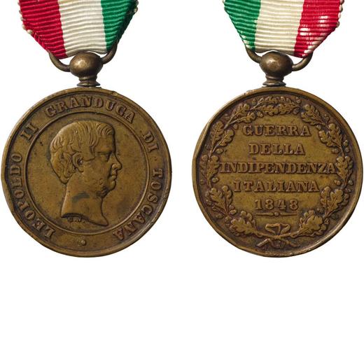 MEDAGLIE E DECORAZIONI ITALIANE. GRANDUCATO DI TOSCANA. LEOPOLDO II. GUERRA INDIPENDENZA ITALIANA  1