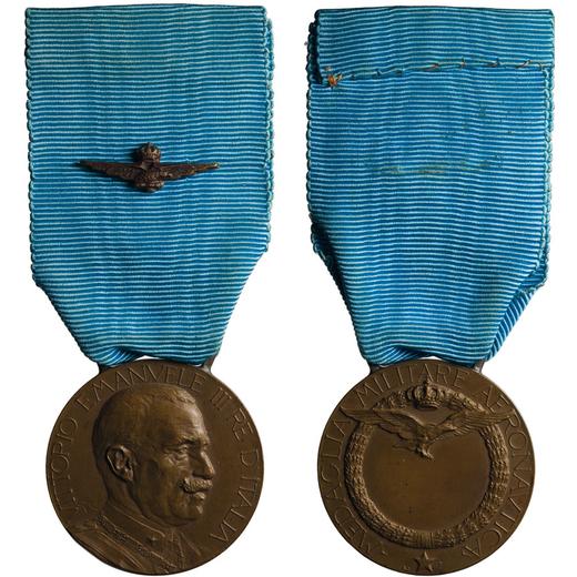MEDAGLIE E DECORAZIONI ITALIANE. REGNO DITALIA. VITTORIO EMANUELE III. MEDAGLIA MILITARE AERONAUTICA