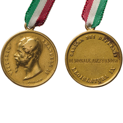 MEDAGLIE E DECORAZIONI ITALIANE. REGNO DI SARDEGNA POI DITALIA. VITTORIO EMANUELE II. CAMERA DEI DEP