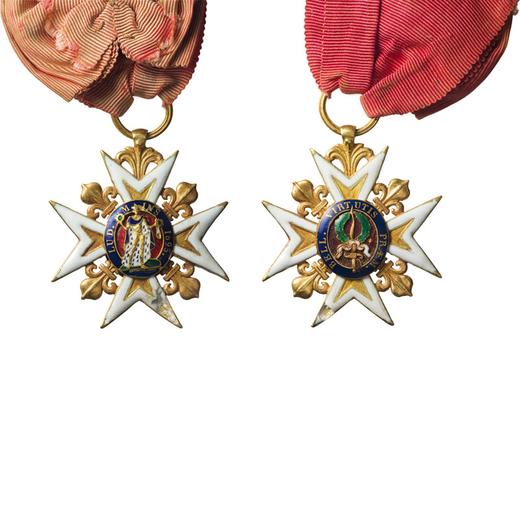 MEDAGLIE E DECORAZIONI ESTERE. CROCE DELLORDINE DI SAN LUIGI Fondato da Luigi XVI. Oro e smalti in p