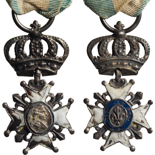 MEDAGLIE E DECORAZIONI ESTERE. MINIATURA ORDINE DELLA FEDELTA (GIGLIO)  Istituito da Luigi XVIII (gu