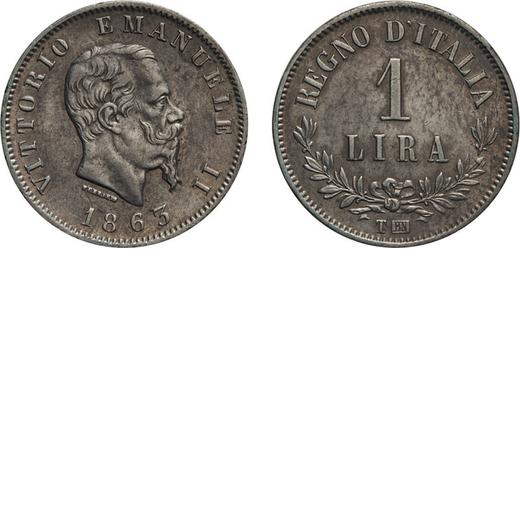 REGNO DITALIA. VITTORIO EMANUELE II. 1 LIRA VALORE 1863  Torino. Argento, 5,05 gr, 23 mm, SPL. Raris