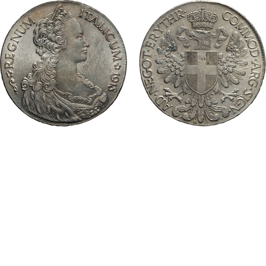 REGNO DITALIA. ERITREA. VITTORIO EMANUELE III. TALLERO DITALIA 1918  Argento, 28,12 gr, 40 mm, qFDC.