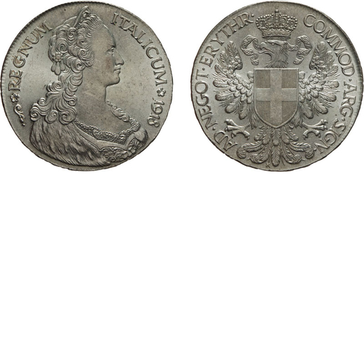 REGNO DITALIA. ERITREA. VITTORIO EMANUELE III. TALLERO ITA 1918 SENZA FIRMA  Argento, 28,12 gr, 40 m
