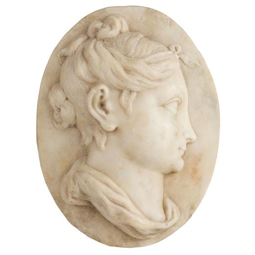 GIOVANNI BONAZZA (maniera di) (Venezia, 1654 - Padova, 1736)<br>Rilievo in marmo bianco raffigurante