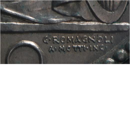 REGNO DITALIA. VITTORIO EMANUELE III. 20 LIRE LITTORE 1927 ANNO V