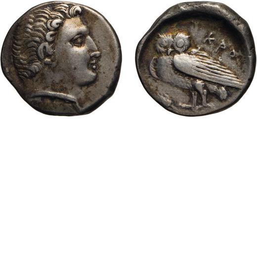 MONETE GRECHE. BRUTTIUM. KROTON. DRACMA Coniata circa nel 300-250 a.C. Argento, 2,91 gr, 15 mm, qBB<