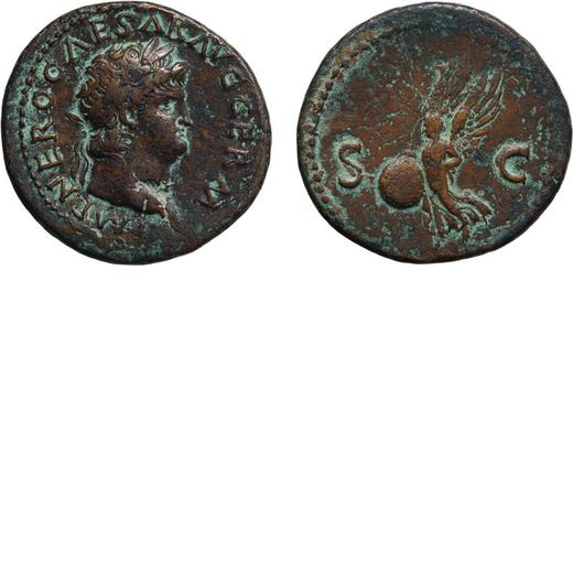 MONETE ROMANE IMPERIALI. NERONE (54-68). ASSE Coniato circa nel 64-68. Ae, 10,81 gr, 27,5 mm, qBB.<b