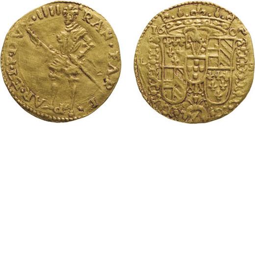 ZECCHE ITALIANE. PARMA, RANUCCIO FARNESE (1592-1622). ONGARO 1602 Oro, 3,48 gr, 21 mm, BB. Raro.<br>