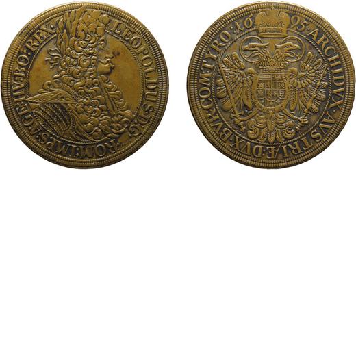 ZECCHE ESTERE. AUSTRIA. LEOPOLDO I. TOKEN O PROVA DEL TALLERO 1695 Argento, 25,97 gr, 45 mm. BB+<br>