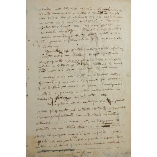 FORTUNATO DEPERO Fondo 1892 - Rovereto 1960<br>Schizzo per figura astratta, 1915 circa<br>China su c