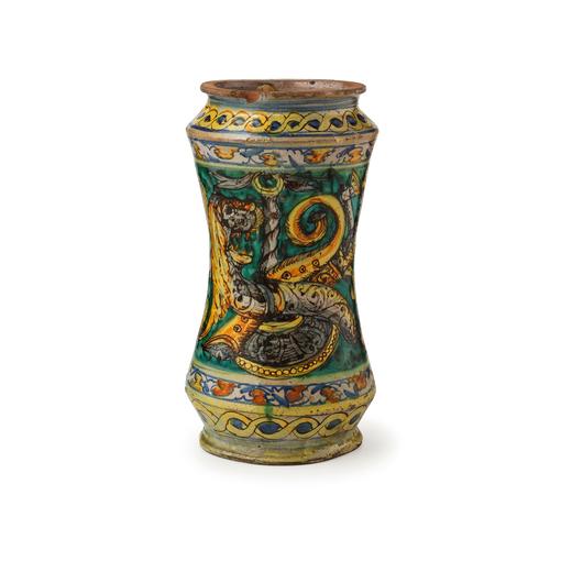 Albarello in maiolica policroma fornace di sciacca xviii for Arte arredi sciacca