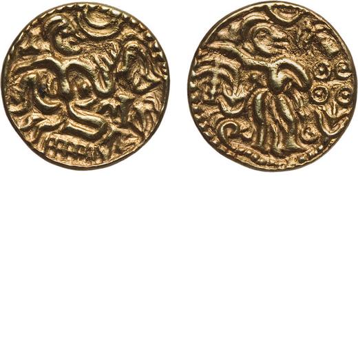 ZECCHE ESTERE. CEYLON (SRI LANKA). PERIODO CHOLA (990-1070). KAHAVANU  Oro, 4,72 gr, 18 mm, provenie