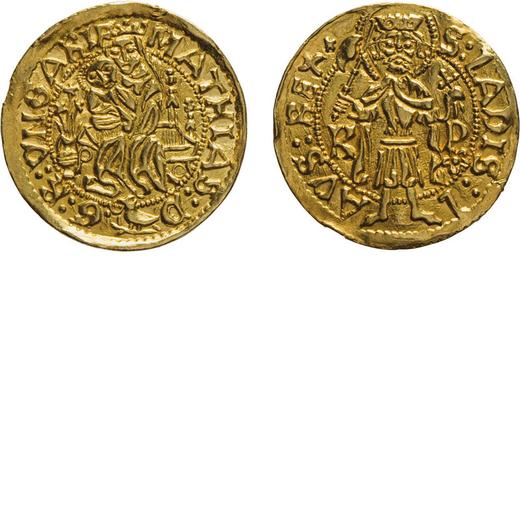 ZECCHE ESTERE. UNGHERIA. MATTIA CORVINO (1489-1490). GOLDGULDEN Kremnica. Oro, 3,53 gr, 21 mm, BB+/q