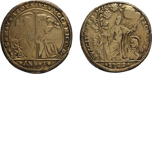ZECCHE ITALIANE. VENEZIA. ALVISE III MOCENIGO (1722-1732). OSELLA 1722 Argento, 9,36 gr, 35 mm, trac