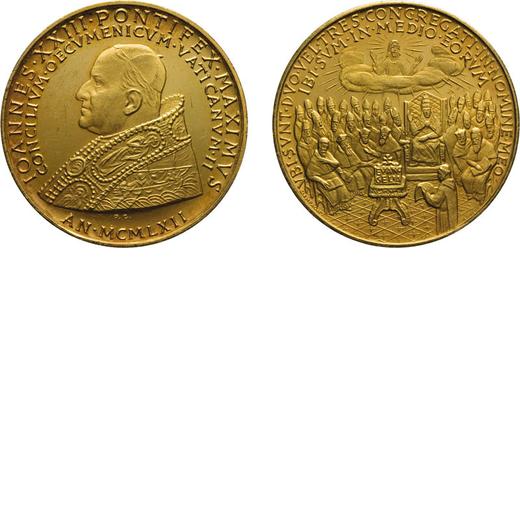 MEDAGLIE PONTIFICIE. GIOVANNI XXIII. APERTURA CONCILIO ECUMENICO VATICANO II 1962 Oro, 17,58 gr, 31
