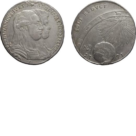ZECCHE ITALIANE. NAPOLI. FERDINANDO IV (1759-1816). PIASTRA 120 GRANA Argento, 27,20 gr, 40 mm, trac