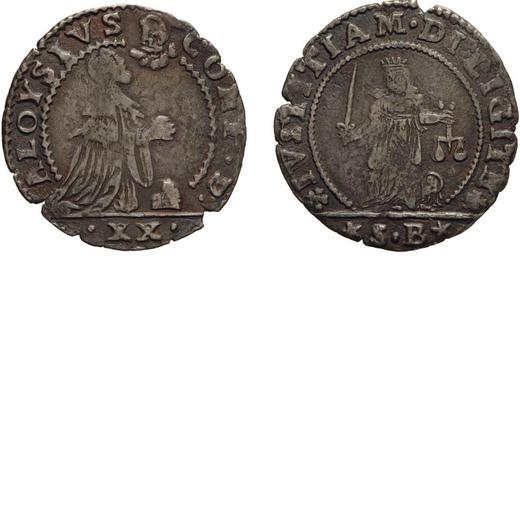 ZECCHE ITALIANE. VENEZIA. ALVISE CONTARINI (1676-1684). LIRETTA. Argento, 2,87 gr, 26 mm. qBB<br>D: