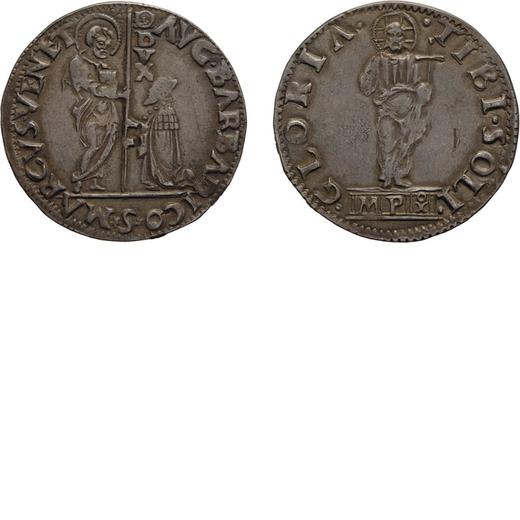 ZECCHE ITALIANE. VENEZIA. AGOSTINO BARBARIGO (1486-1501). MOCENIGO O LIRA. Argento, 6,43 gr, 33 mm.