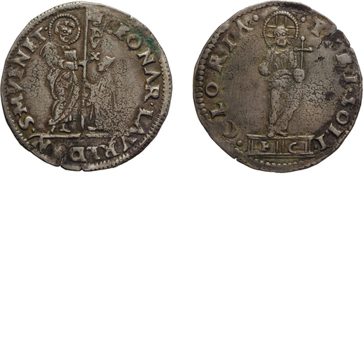 ZECCHE ITALIANE. VENEZIA. LEONARDO LOREDAN (1501-1521). MOCENIGO O LIRA. Argento, 6,51 gr, 34 mm. BB