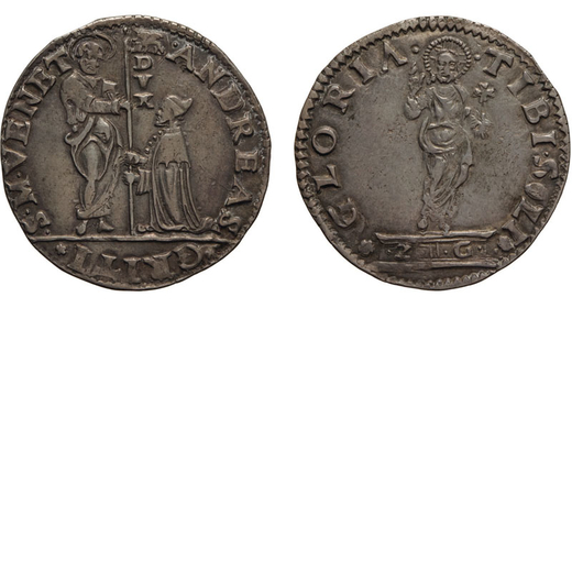 ZECCHE ITALIANE. VENEZIA. ANDREA GRITTI (1523-1538). MOCENIGO O LIRA. Argento, 6,42 gr, 33 mm. BB+<b