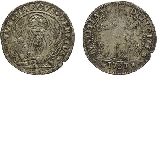 ZECCHE ITALIANE. VENEZIA. ALVISE IV MOCENIGO (1763-1778). LIRAZZA DA 30 SOLDI 1767 Argento, 7,41 gr,