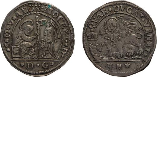 ZECCHE ITALIANE. VENEZIA. ALVISE MOCENIGO (1763-1778). QUARTO DI DUCATO  Argento, 5,55 gr, 31mm. BB+