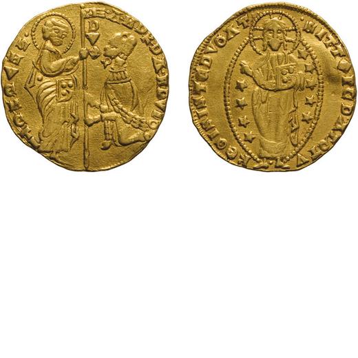 ZECCHE ITALIANE. VENEZIA. ANDREA DANDOLO (1343-1354). DUCATO Oro, 3,46 gr, 20 mm. BB+<br>D: ANDR DAN