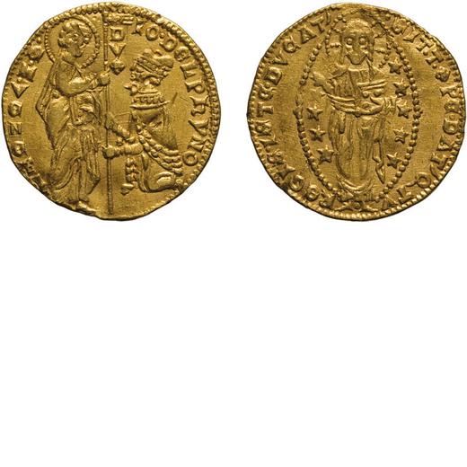 ZECCHE ITALIANE. VENEZIA. GIOVANNI DOLFIN (1356-1361). DUCATO Oro, 3,53 gr, 20 mm. BB+. Rara<br>D: I