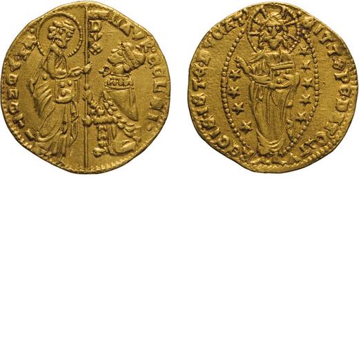 ZECCHE ITALIANE. VENEZIA. LORENZO CELSI (1361-1365). DUCATO Oro, 3,53 gr, 20 mm. BB<br>D: LAVR CELSI