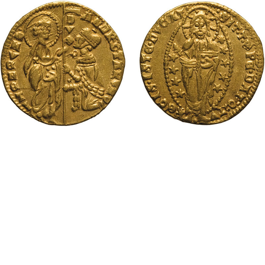 ZECCHE ITALIANE. VENEZIA. ANDREA CONTARINI (1368-1382). DUCATO Oro, 3,51 gr, 20mm. BB+<br>D: ANDR 9T