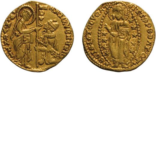 ZECCHE ITALIANE. VENEZIA. ANTONIO VENIER (1382-1400). DUCATO Oro, 3,52 gr, 20 mm, qBB<br>D: ANTO VEN