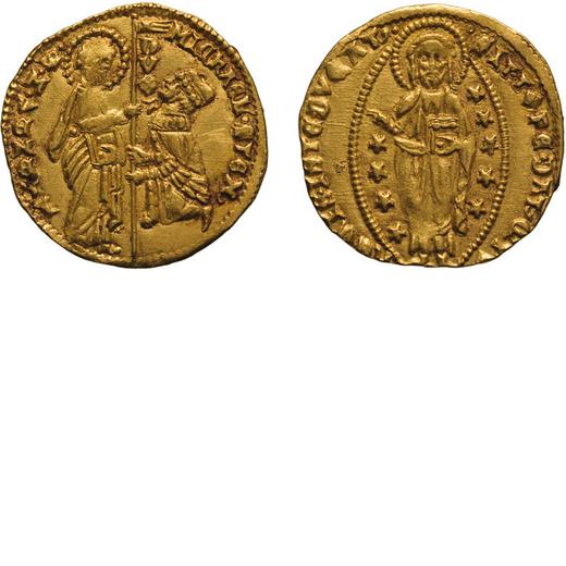 ZECCHE ITALIANE. VENEZIA. MICHELE STENO (1400-1413). DUCATO Oro, 3,53 gr, 21mm. BB+<br>D: MIChAEL ST