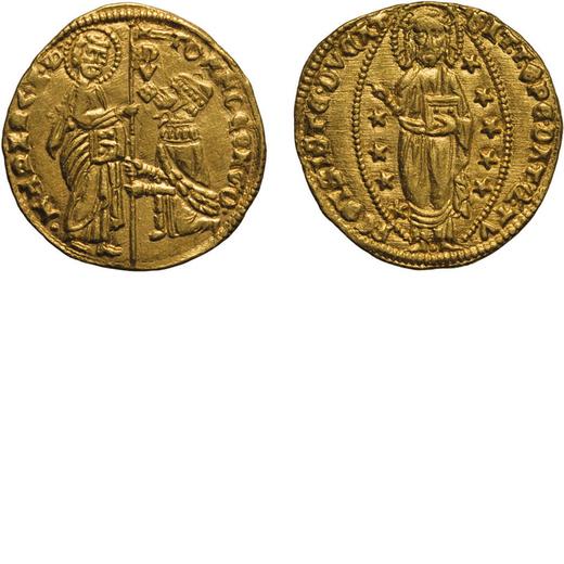 ZECCHE ITALIANE. VENEZIA. TOMASO MOCENIGO (1414-1423). DUCATO Oro, 3,51 gr, 21mm. BB+<br>D: TOM MOCE