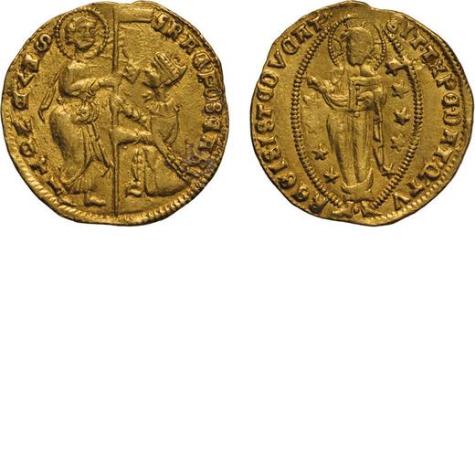 ZECCHE ITALIANE. VENEZIA. FRANCESCO FOSCARI (1423-1457). DUCATO Oro, 3,53 gr, 20 mm. BB+<br>D: FRAC