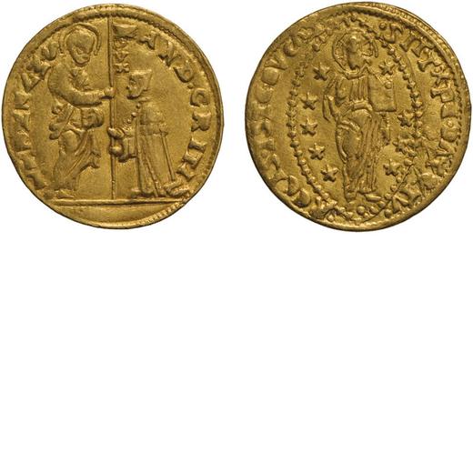 ZECCHE ITALIANE. VENEZIA. ANDREA GRITTI (1523-1538). DUCATO Oro, 3,46 gr, 20 mm. BB+<br>D: AND GRITI