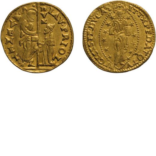ZECCHE ITALIANE. VENEZIA. LORENZO PRIULI (1556-1559). ZECCHINO Oro, 3,48 gr, 20 mm. BB+<br>D: LAV PR