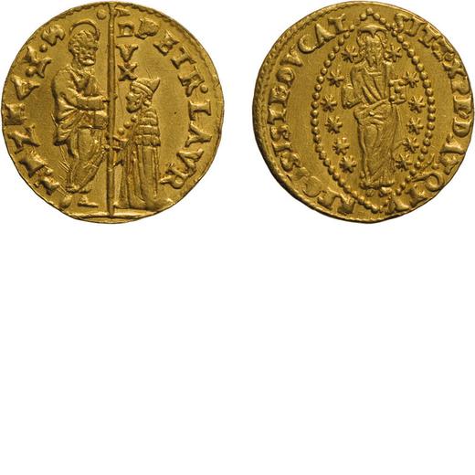 ZECCHE ITALIANE. VENEZIA. PIETRO LOREDAN (1567-1570). ZECCHINO Oro, 3,50 gr, 20 mm. BB+<br>D: PETR L