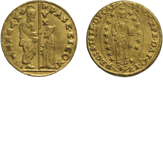 ZECCHE ITALIANE. VENEZIA. PASQUALE CICOGNA (1585-1595). ZECCHINO Oro, 3,48 gr, 20 mm. BB<br>D: PASC