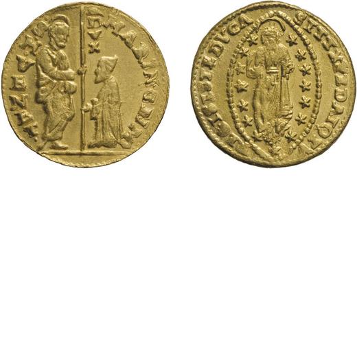 ZECCHE ITALIANE. VENEZIA. MARINO GRIMANI (1595-1605). ZECCHINO Oro, 3,48 gr, 20 mm. BB<br>D: MARIN G
