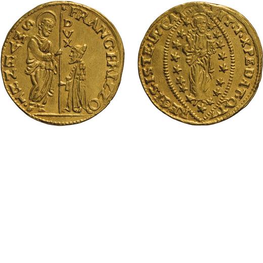 ZECCHE ITALIANE. VENEZIA. FRANCESCO ERIZZO (1631-1646). ZECCHINO Oro, 3,46 gr, 21 mm, qSPL<br>D: FRA
