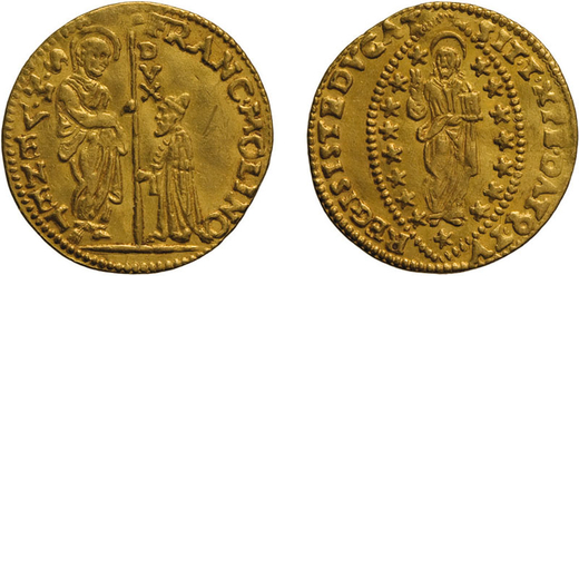 ZECCHE ITALIANE. VENEZIA. FRANCESCO DA MOLIN (1646-1655). ZECCHINO Oro, 3,47 gr, 21 mm, BB+<br>D: FR