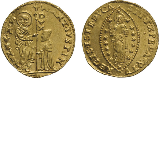 ZECCHE ITALIANE. VENEZIA. MARCANTONIO GIUSTINIAN (1684-1688). ZECCHINO Oro, 3,44 gr, 21 mm, BB<br>D: