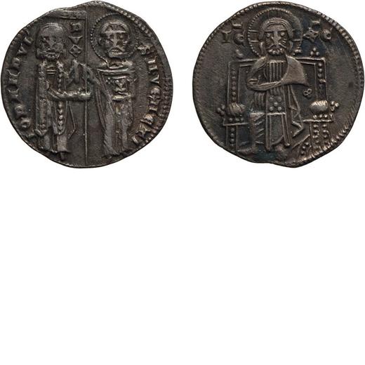 ZECCHE ITALIANE. VENEZIA. GIOVANNI DANDOLO (1280-1289). GROSSO Argento, 1,90 gr, 20 mm. BB<br>D: IO