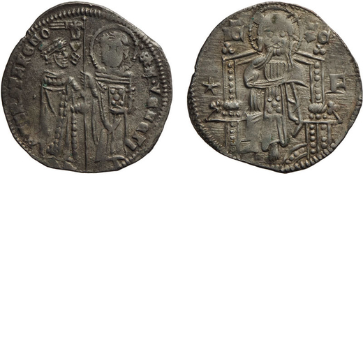 ZECCHE ITALIANE. VENEZIA. ANDREA CONTARINI (1368-1382). GROSSO SECONDO TIPO Argento, 2 gr, 22 mm. qB