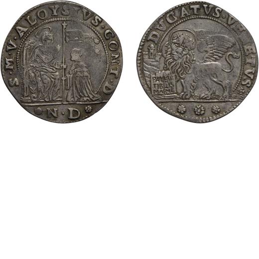 ZECCHE ITALIANE. VENEZIA. ALVISE CONTARINI (1676-1682). DUCATO Argento, 19,49 gr, 38 mm. BB<br>D: Sa